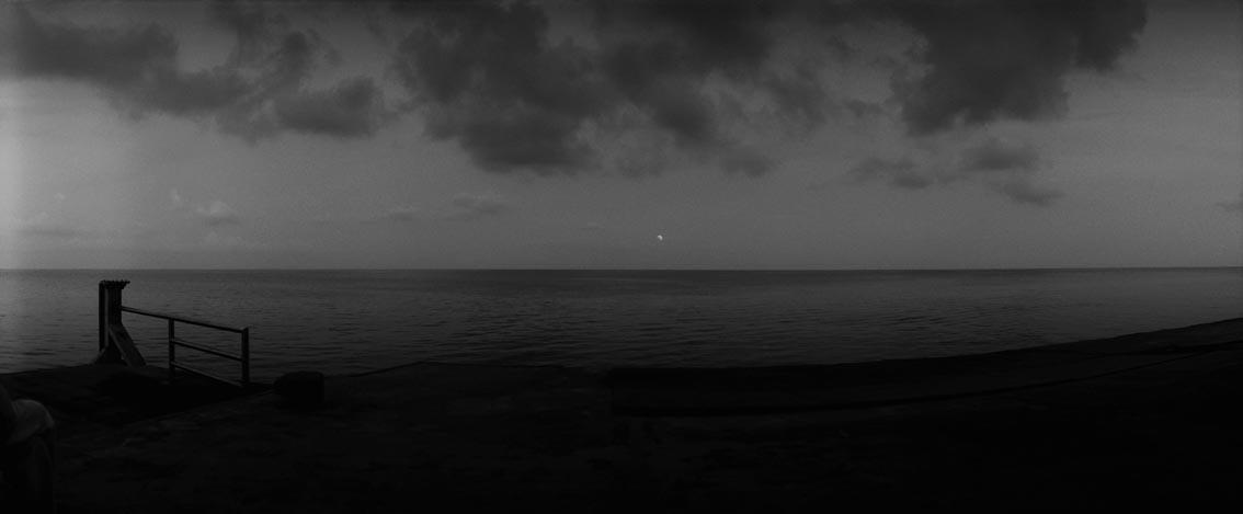 moon eclipse at stromboli