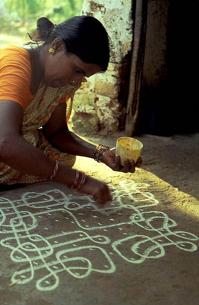 Rajam drawing kolam